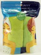 Spa Savvy Hair Microfiber Twist Hair Turban and Bouffant Shower Cap Colour Is
