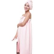 Viskey Bath Adult Children Towel Headband, Pink