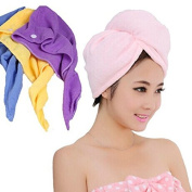 2pcs Microfiber Hair Drying Towel Cap Super Absorbent Towel Thicker Soft and Comfortable Bathroom