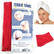 2 Pc 100% Cotton Terry Large Hair Head Wrap Turbie Towel Spa Soft Cap Fast Dry