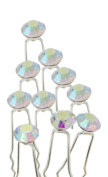 Nestarfactory Polka Dot Elements Collection Rhinestone Metal Hair Pin Pack of 20