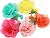 Cuhair(tm) 2015 New Fashion Top Quality Baby Girl Kids Same As Picture 5pcs Baby( Big Flower:6cm)hair Pin Hair Barrette Hairpins for Baby Kids Girl