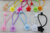 Cuhair(tm) 2015 New Fashion Baby Girl Kids Same As Picture 11pcs Hair Rope Hair Accesorries (Flower:1.5cm)pretty Flower for Baby Girl Women