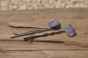 Amethyst Stone Hair Pins