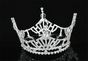 Exquisite Rhinestones Wedding Bridal Pageant Queen Large Tiara Crown