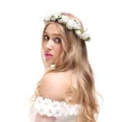 Valdler Jasmine Flower Crown for Wedding Festivals for Wedding Festivals