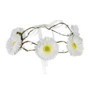 Valdler Flower Headband Wedding Hair Wreath Floral Crown Garland