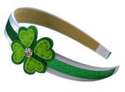 Girls Felt Heart Shamrock St. Patrick's Day Headband-Funny Girl Designs
