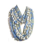 Natural Life Infinity Scarf Medallion Headband, Light Blue