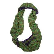 Natural Life Infinity Scarf Headband, Green/Grey/Purple
