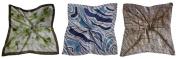 3 Scarves - Silk-like Big Square Fashion Scarf 80cm x 80cm - Goddess Set