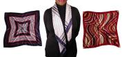 3 Scarves - Silk-like Big Square Fashion Scarf 80cm x 80cm - Sophisticated Set