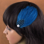 Nero Women's Handmade Feather Fascinator Hair Clips, Fascinator Headpieces