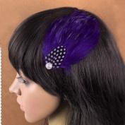 Nero Women's Handmade Feather Fascinator Hair Clips, Fascinator Headpieces