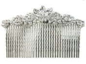 Faship Elegant Gorgeous Clear Big Hair Comb For Bridesmaid Bridal Wedding Pageant