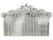 Faship Elegant Gorgeous Clear Big Hair Comb For Bridesmaid Bridal Wedding Pageant