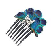 Handmade Peacock Feather Hair Comb Hair Accessories