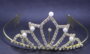Exquisite Rhinestones and Pearl Bridal Wedding Crown Headband