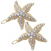 2 Starfish Wedding Flower Girl Bridesmaid Hairpin Set