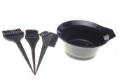 1 Set of 4pcs - Salon Hair Colouring Tools Dyeing Bowl Comb Brushes Kit Set Tint Colouring Bleach