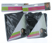 Lot of 2 Black Hair Cutting Cape Barber Shop Salon Gown Waterproof