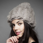 NEW 2014 Fluffy Women Russian Cossack Rabbit Fur Knitted Hat Head Ski Cap Winter Warm
