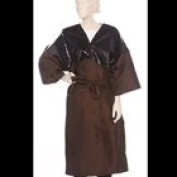 Salon Client Gown Robe Chemical Proof Two Tone Kimono Gown