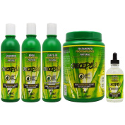 "BOE Crece Pelo Fitoterapeutico Natural Shampoo & Rinse & Treatment & Gotero ""Set II"""