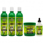 "BOE Crece Pelo Fitoterapeutico Natural Shampoo & Rinse & Leave-in & Treatment & Gotero ""Set"""