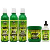 """BOE Crece Pelo Fitoterapeutico Natural Shampoo & Rinse & Leave-in & Treatment & Gotero """"Set"""""""