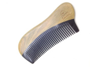 Time Roaming 100% Handmade Natural Wood Comb 12cm Pocket Comb, Narrow Tooth, Health & Beauty Comb, Black Buffalo Horn & Green Sandalwood
