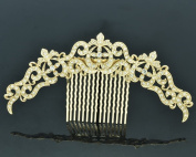 Vintage Rhinestone Crystal Palace Flower Comb Headband For Women Jewellery XBY077