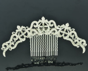Clear Rhinestone Crystals Palace Flower Hair Comb Headband Women Jewellery XBY077