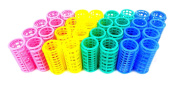 """32pc x 30.5mm (1.2"""") Soft hook and loop DIY Medium Grip Cling Roller Curler Hair Styling Hairdressing Tool"""