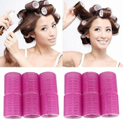 12pcs/lot Women Cosmetic Hair Style Tools Salon DIA hook and loop Cling Rollers Curlers Hair Rollers