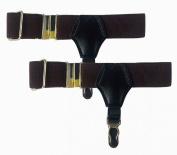 NAVA Vintage Sexy Brown Men Women Unisex Pin Sock Garters Grip Suspender Accessories