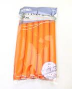 18cm Long Soft Twist Rollers Orange, 12 pieces