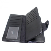 Boshiho Leather Bifold Credit Card Holder Wallet Slim Clutch Purse with Id Window Credit Card Case Wallet