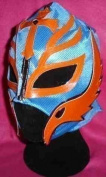 REY MYSTERIO RAY colour will vary MASK FANCY DRESS UP COSTUME OUTFIT STYLE REPLICA WWE WRESTLING MASKE ZIP UP CHILD ADULT NEW PARTY WRESTLEMANIA FANCY DRESS UP COSTUME REY MEXICAN CHILDREN KIDS BOYS NEW WWF GEAR SUIT