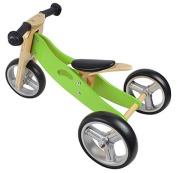 Nicko Mini 2 in 1 Apple Green Wooden Balance Running Bike Trike 18 months - 3 years old