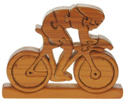 Racing Bike 3-D Wooden Puzzle : Fun. ain Teaser : Handcrafted Wood : Top Novelty Wooden Christmas Gift Idea For Cyclists & Cycling Enthusiasts!