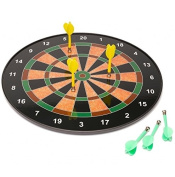 46cm Official Size Magnetic Dartboard With 6 Darts Included Child Kids Dart Board Game Fun Play