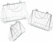 Oasis Floral Products 3 x Pre-formed Wire Handbag Shapes - Silver