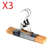 Pack Of 2 Wooden Trouser And Skirt Hangers x3