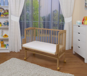 WALDIN Baby Bedside Cot Co-Sleeper height adjustable,untreated or white