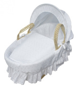 Kinder Valley Broderie Anglaise Moses Basket