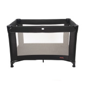 Red Kite Sleeptight Travel Cot, Jet Black.
