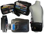 Mens Mans Soft Leather Travel Organiser Utility Man Bag Shoulder Bags RL521