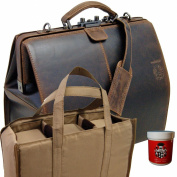 BARON of MALTZAHN doctor's bag GAWAIN with insert and shoulder strap made from buffalo leather