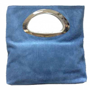 Ladies Real Italian Suede Leather Small Clutch & Evening Bag Tote Bag